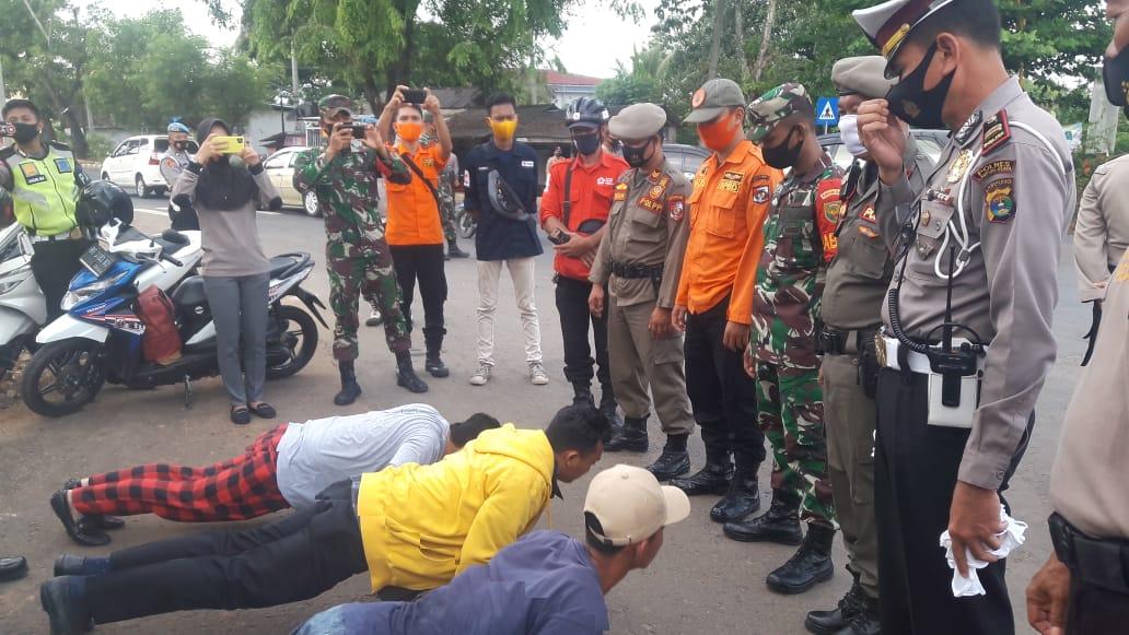 Gelar AKBM2PA Satgas Covid 19 Lampung Utara Tindak 20 Warga Yang Tidak Menggunakan Masker