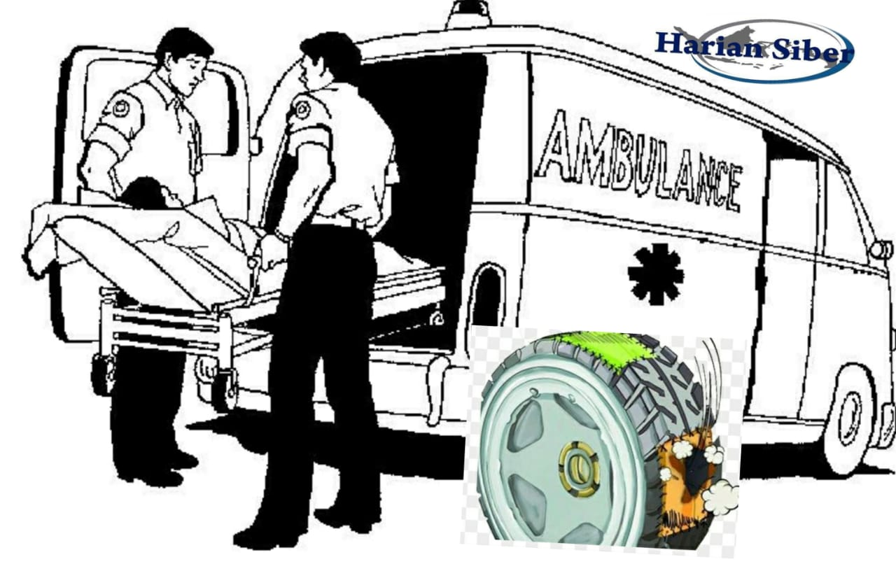 Bawa Pasien Kritis Ambulans Puskesmas Ini Pecah Ban di JTS, Mirisnya Tanpa Ban Serep
