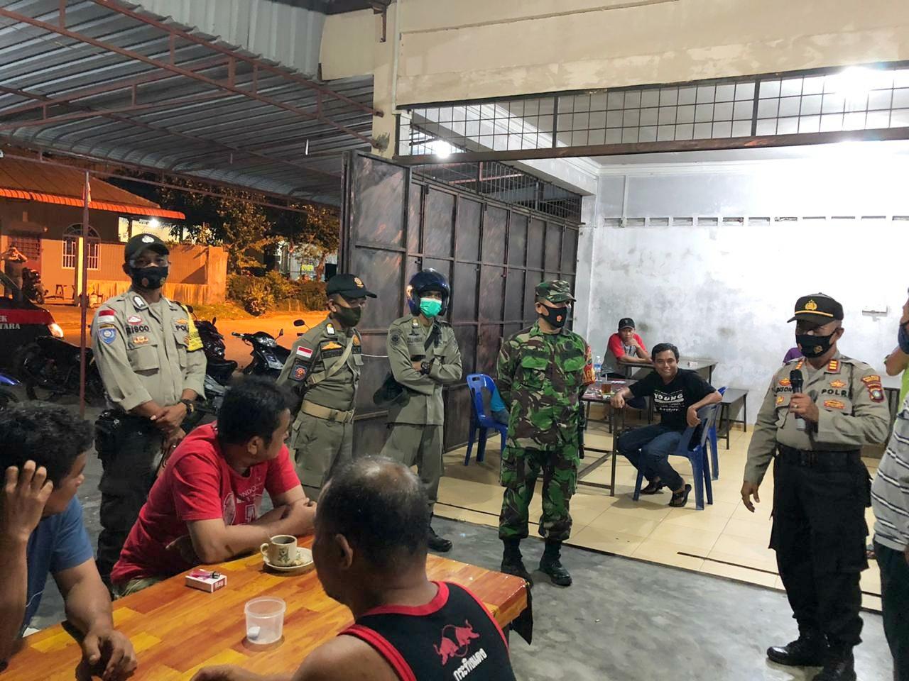 Tidak Patuh Protokol Kesehatan, Tim Gabungan Operasi Yustisi Polres Bintan Beri Sangsi