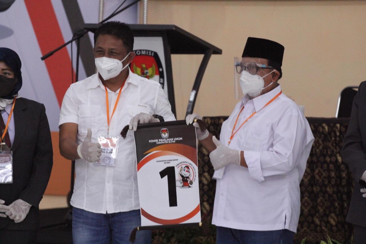 Rijanto-Marhaenis Dapat Nomor Urut 1, Langsung Kerja Nyata Layani Masyarakat Kabupaten Blitar