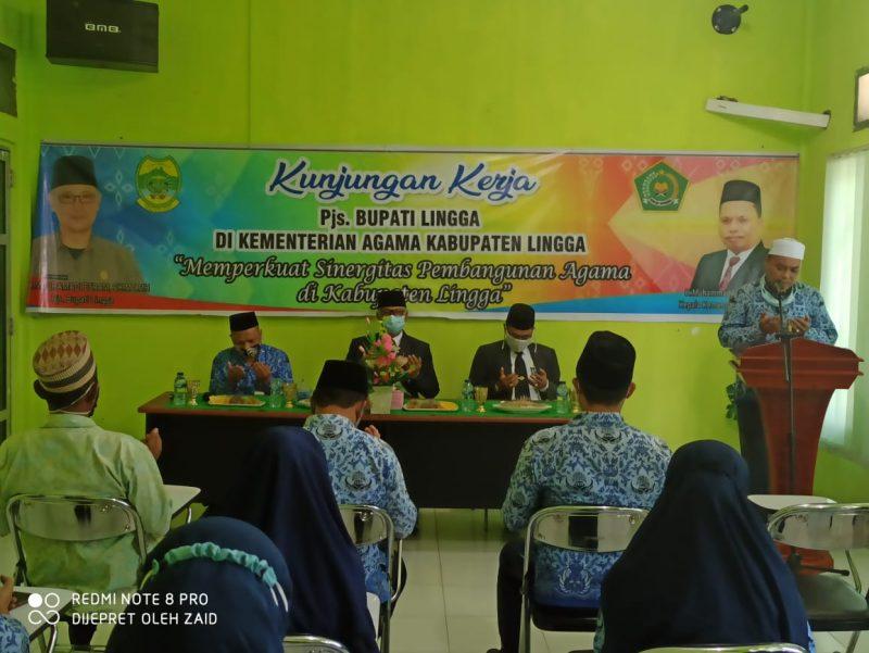 Jalin Silaturahmi Antar Lembaga Pjs Bupati Lingga Kunjungi Kemenag