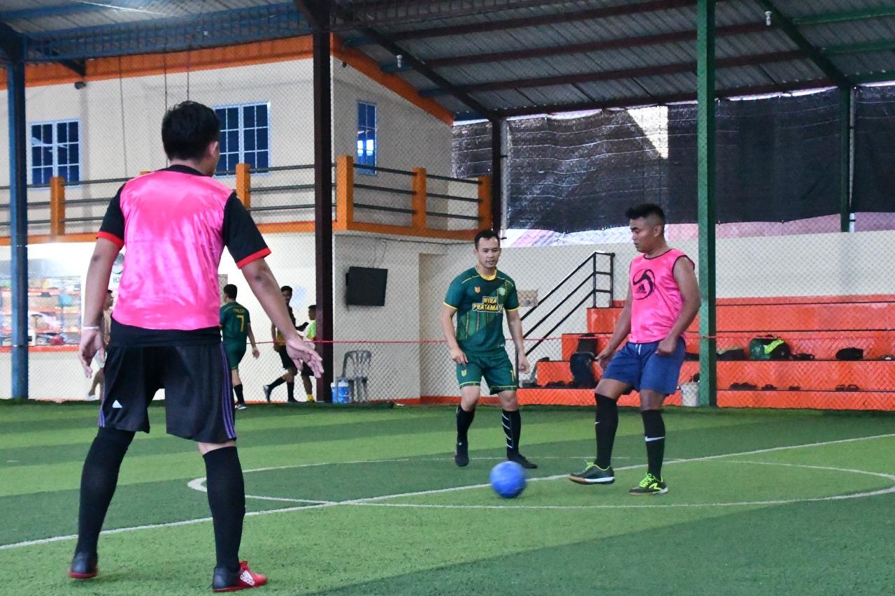 Pertandingan Futsal antara Korem 003/WP Vs Polres Bintan