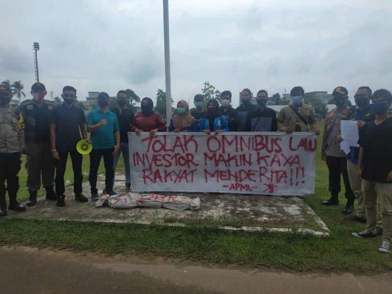Polres Lingga Lakukan Pengamanan Aksi Damai Mahasiswa Lingga