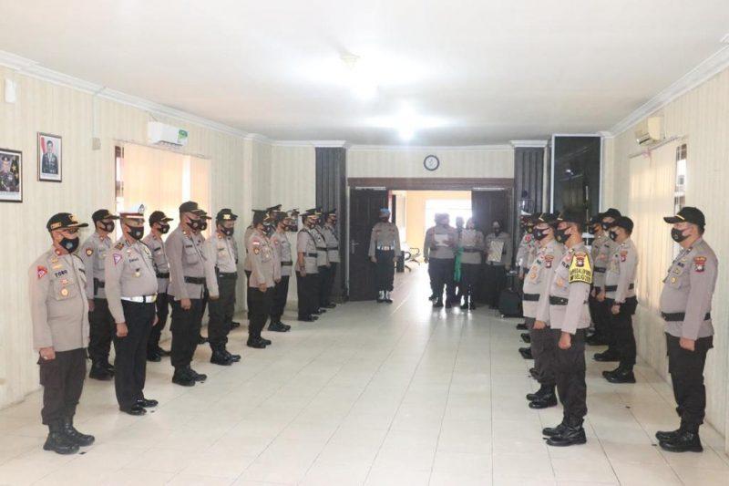 Wakapolres Lingga Pimpin Sertijab Tiga Pejabat Utama