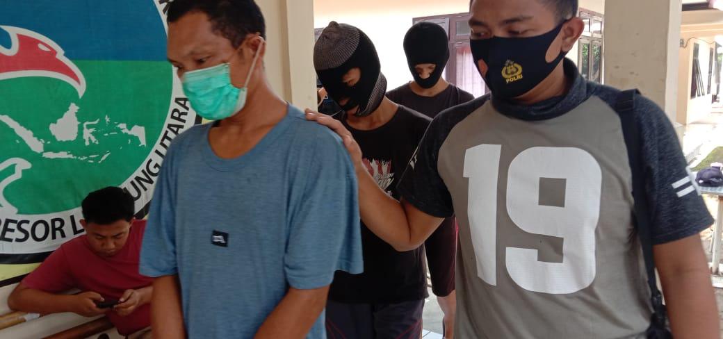Tim Opsnal Satresnarkoba Polres Lampung Utara Ringkus Tiga Orang Penyalahgunaan Narkoba