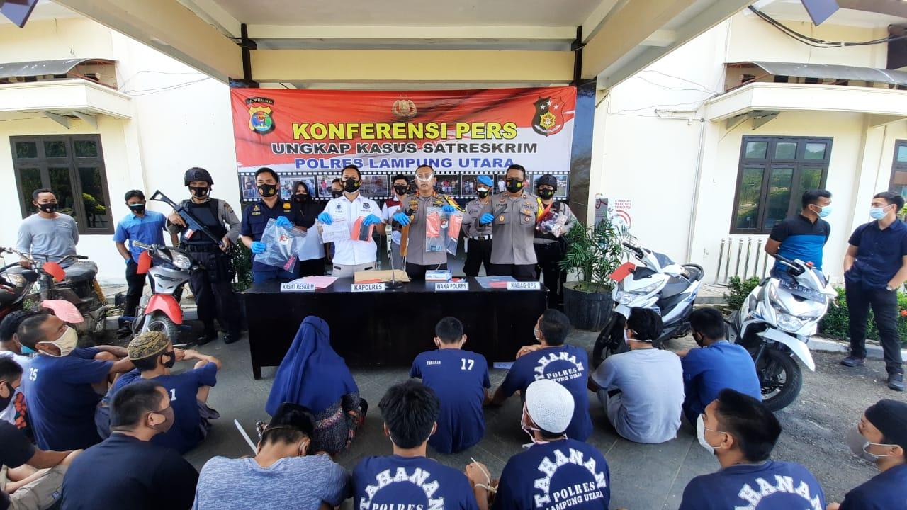 Melalui KRYD Polres Lampura Ungkap 34 Kasus Kejahatan Serta Mengamankan 32 Pelakunya