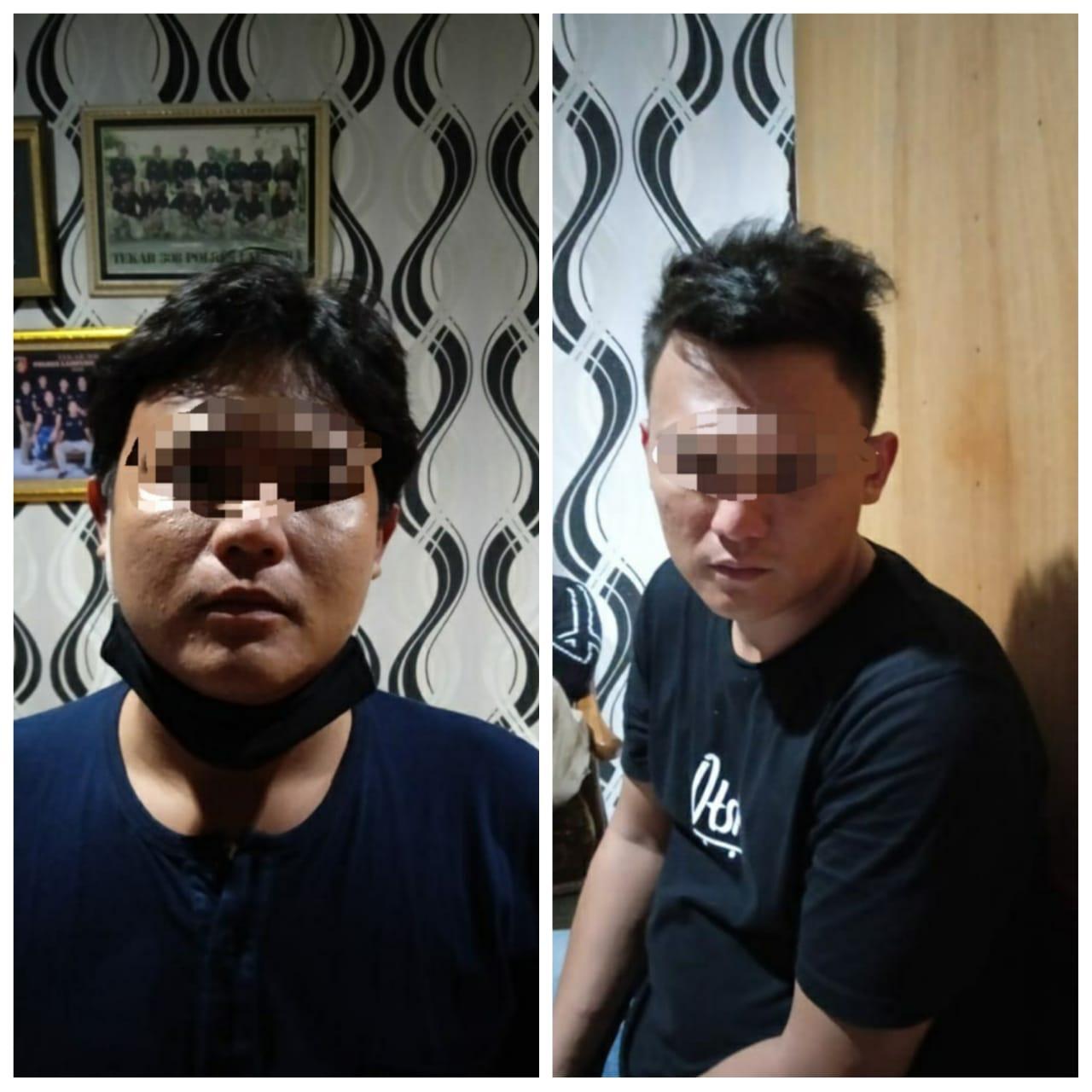 Apes Sedang Berada di Hotel Dua Pemuda Ini ditangkap Tekab 308 Satreskrim Polres Lampura