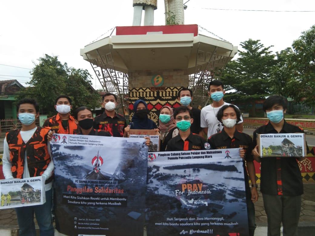 SAPMA PP Lampura Ajak Warga Mari Sisihkan Rejeki Bantu Korban Bencana