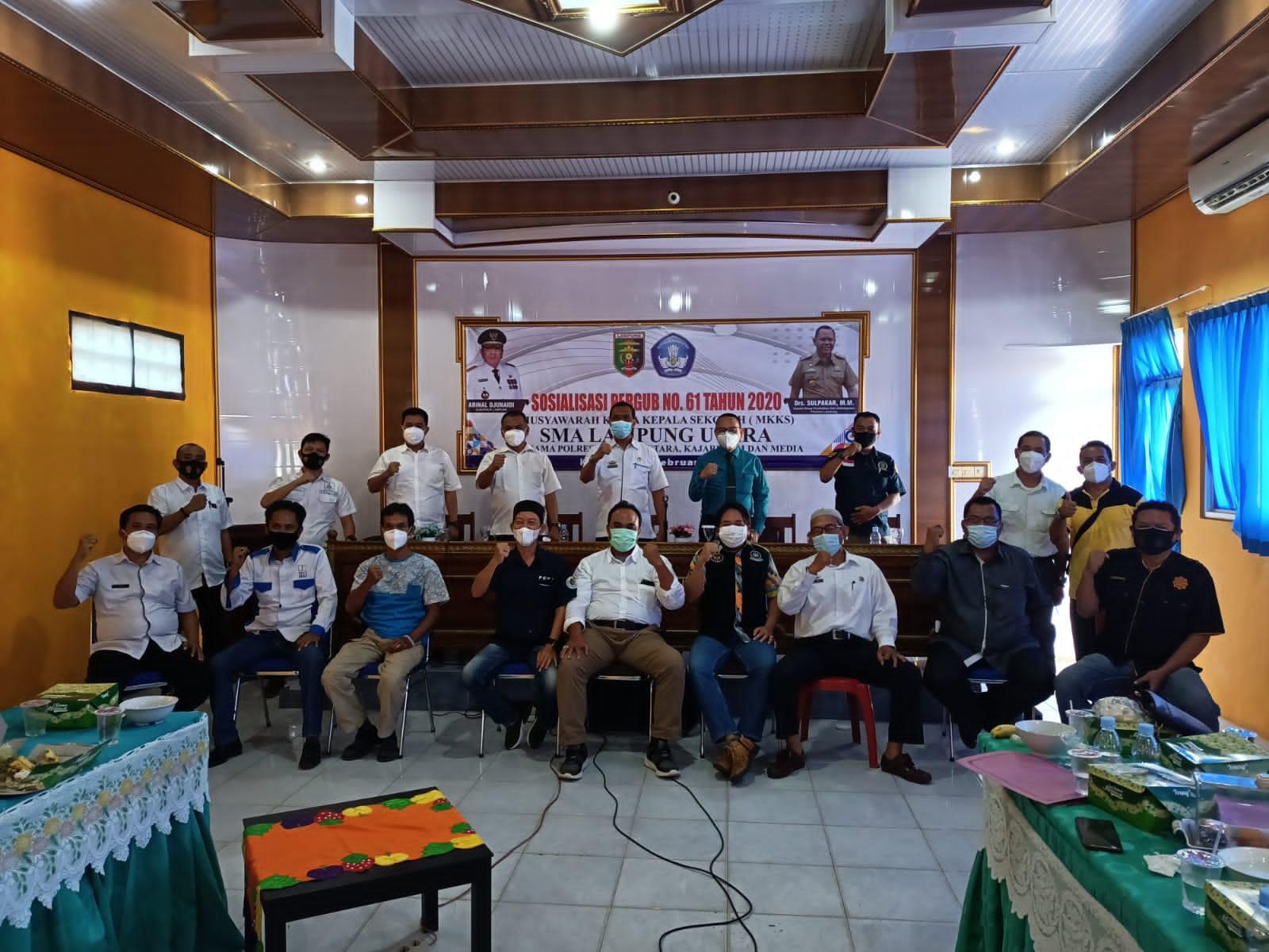 MKKS SMA Lampura Sosialisasikan Pergub Nomor 61 Tahun 2020
