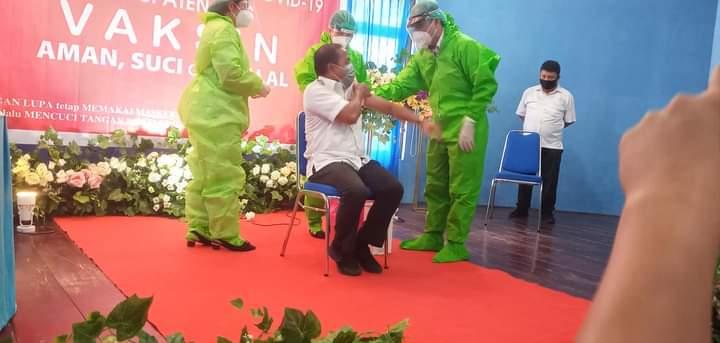 Pelaksanaan Perdana Vaksin Covid-19 Wakil Bupati Nias, Buka Secara Resmi
