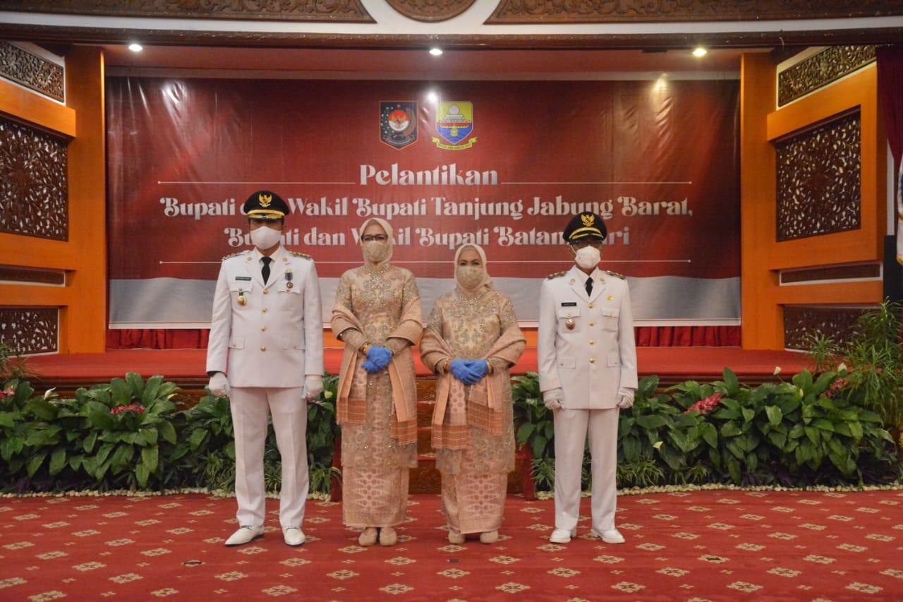 Bupati dan Wakil Bupati Batanghari Terpilih Resmi dilantik