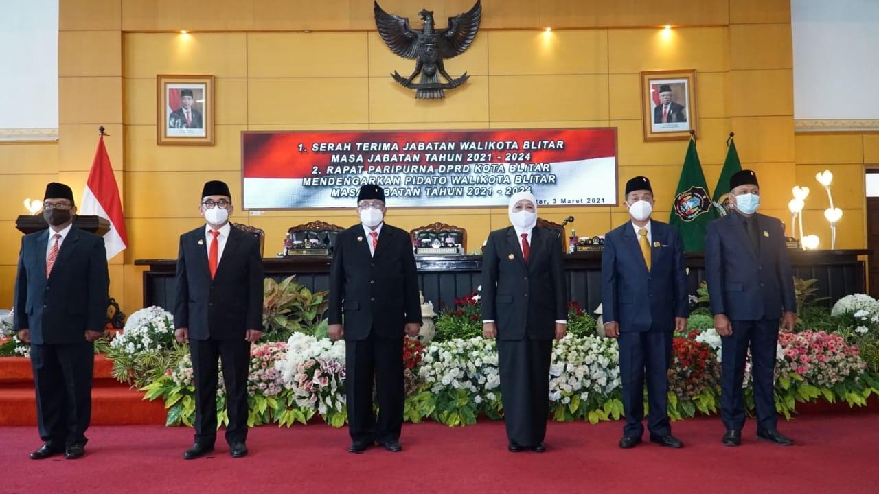 DPRD Kota Blitar Gelar Rapat Paripurna Serah Terima Jabatan Walikota Dihadiri Gubernur Jatim