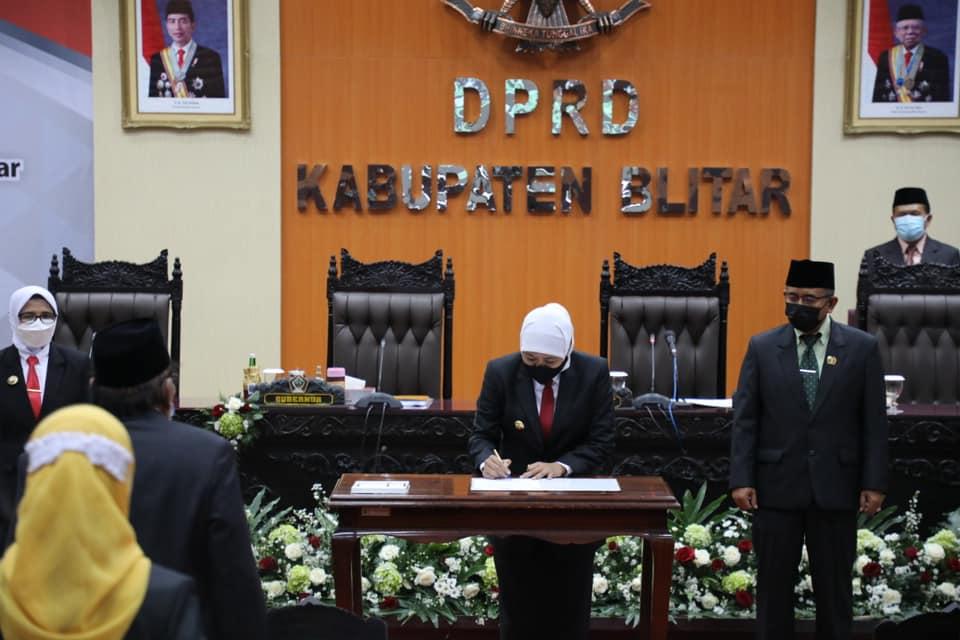 DPRD Kabupaten Blitar Gelar Paripurna Serah Terima Jabatan Bupati di Hadiri Gubernur Jatim
