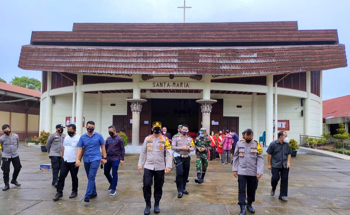 Kapolres Nias AKBP Wawan Iriawan, S.I.K, Turut Pantau Pengamanan Setiap Rumah Ibadah