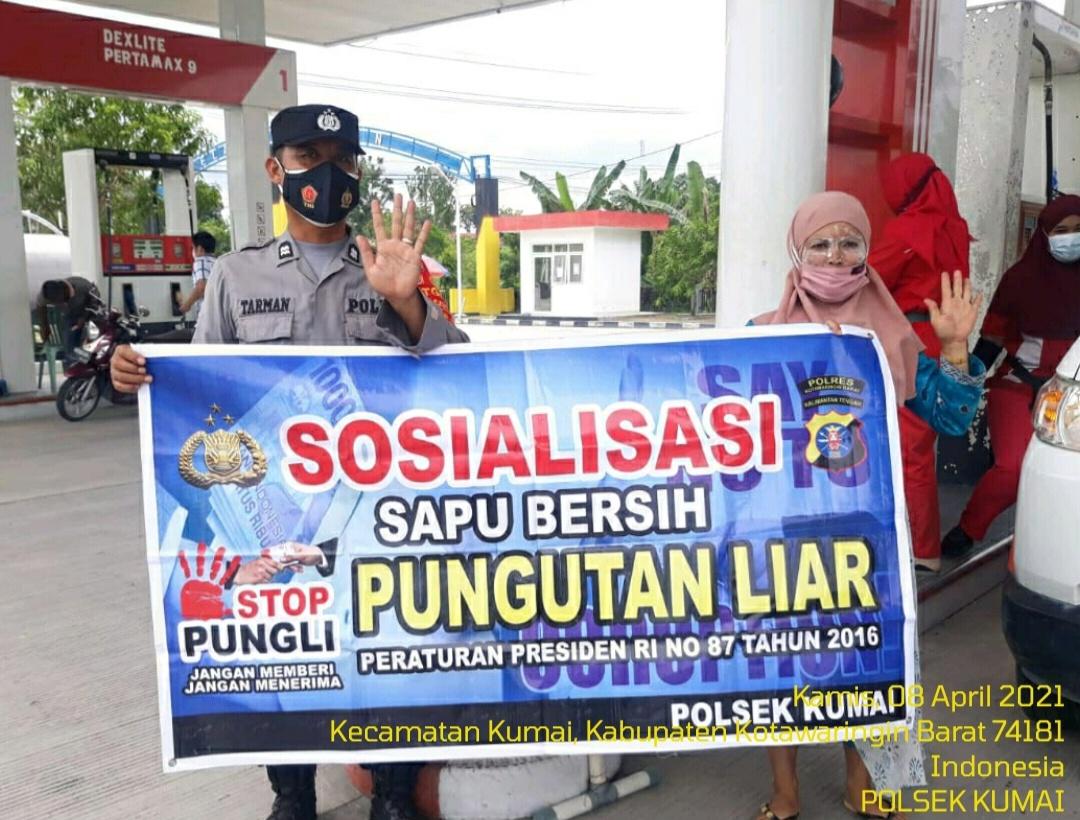 Sosiali Saber Pungli di wilayah Kec.Kumai Gencar dilaksanakan