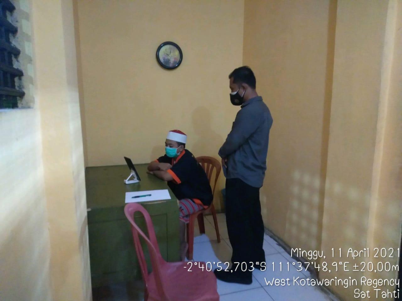 Agenda rutin sarana sistem jenguk melalui aplikasi tahanan Sat Tahti Polres Kobar
