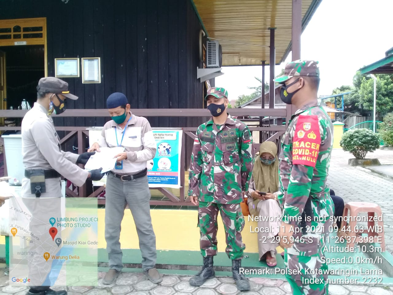 Binmas Polsek Kolam menghimbau warga Kec. Kolam cegah Karhutla