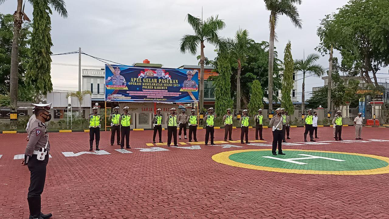 Minggu kedepan Sat Lantas Polres Karimun mulai gelar Operasi Keselamatan Seligi 2021
