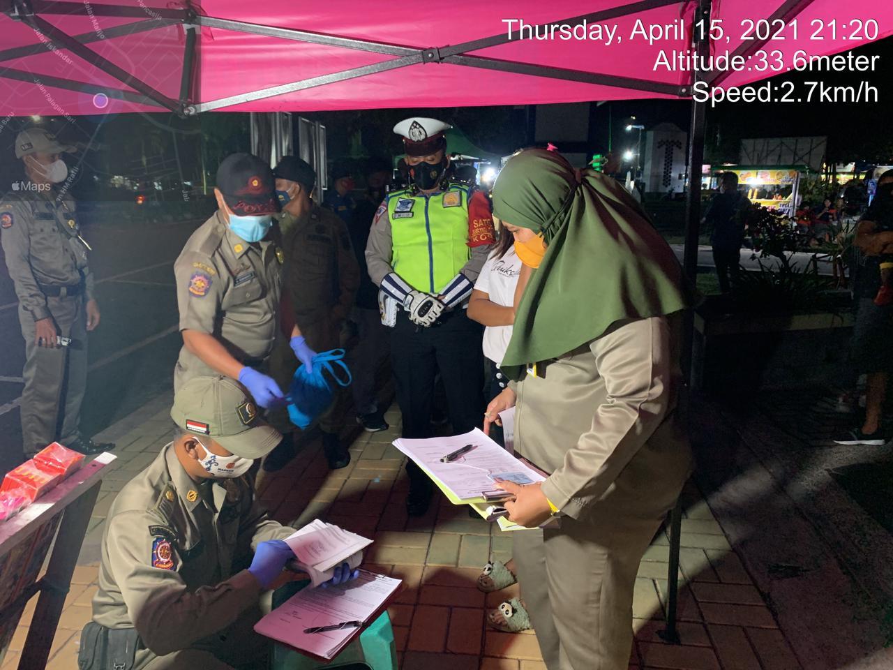 Malam Hari, Satgas Operasi Yustisi Tetap Lakukan Penindakan Pelanggaran Prokes
