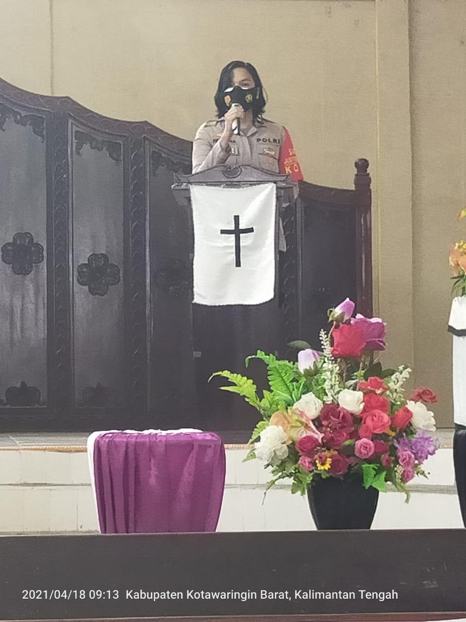 Satreskrim Polres Kotawaringin Barat Berikan Imbauan Kepada Jemaat