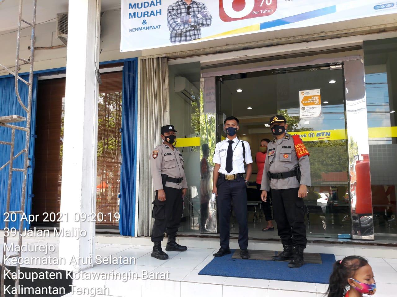 Polsek Arsel Rutin Patroli Ke Tempat Objek Vital/ Bank BTN Seputaran Kota Pangkalanbun