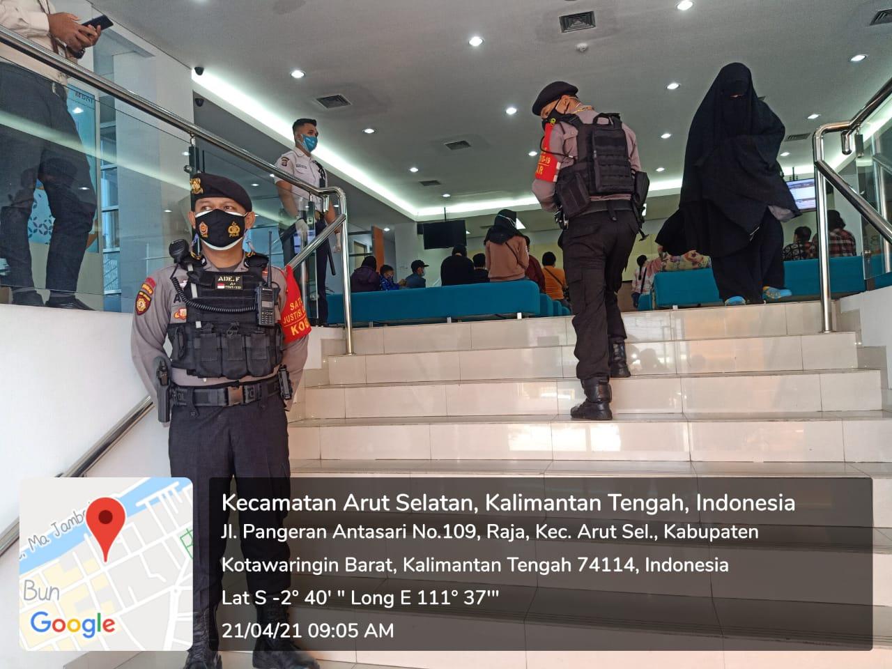 Bank BNI Kobar, Polisi Datang