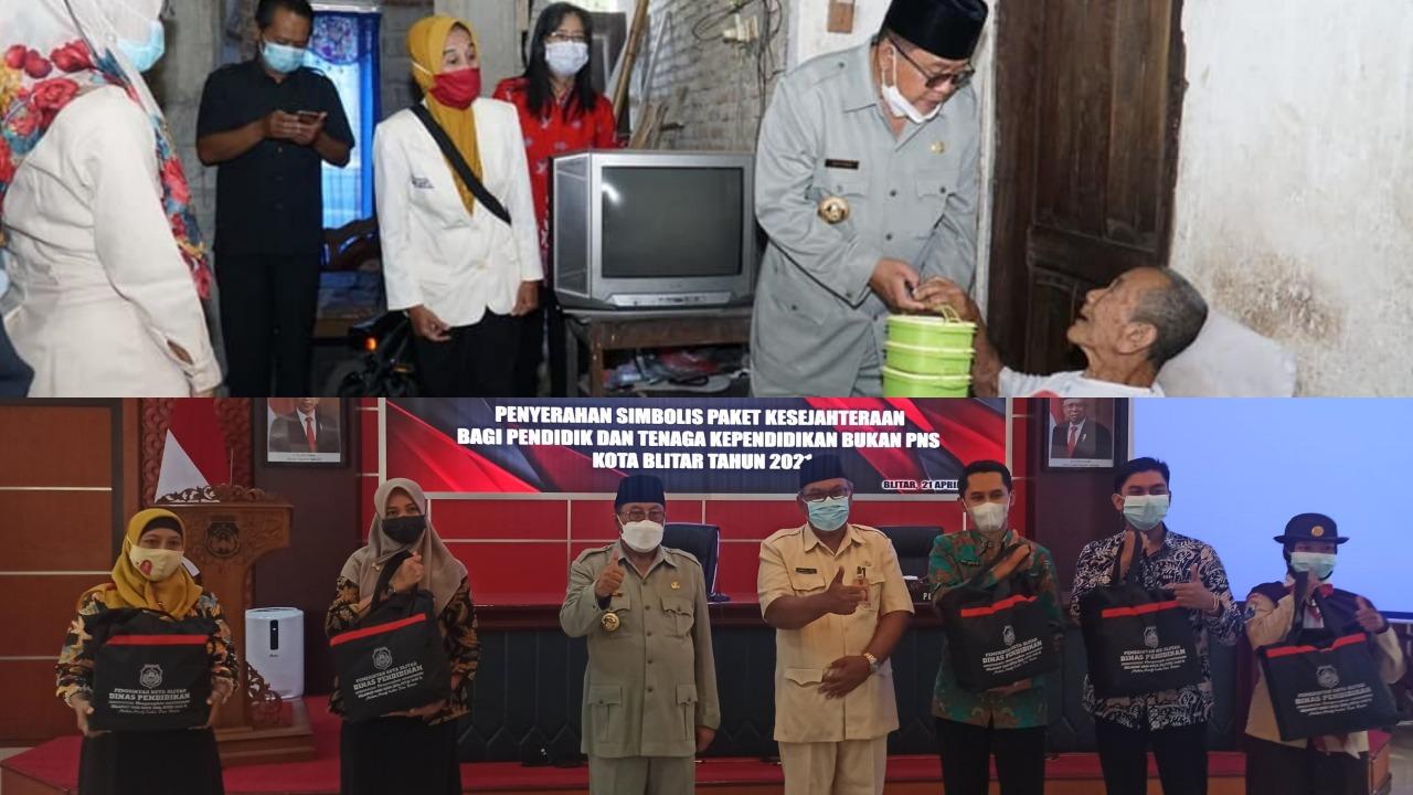 Berkah Ramadhan, Walikota Blitar Santoso Beri Perhatian Lansia dan Guru Honorer