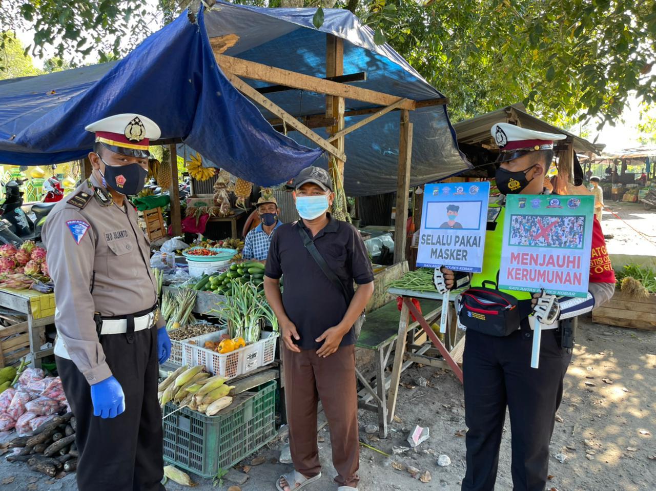 Satlantas Polres Kobar Blusukan ke Pasar Korindo