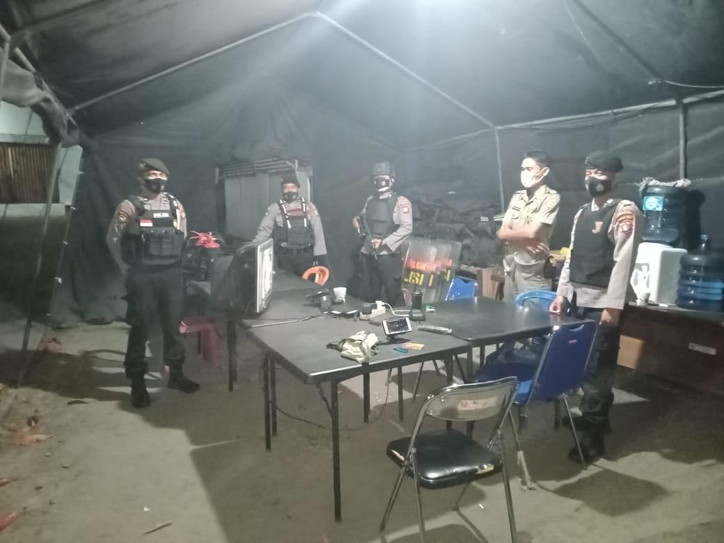 Team Patroli Rajawali Sambangi Kantor KPU