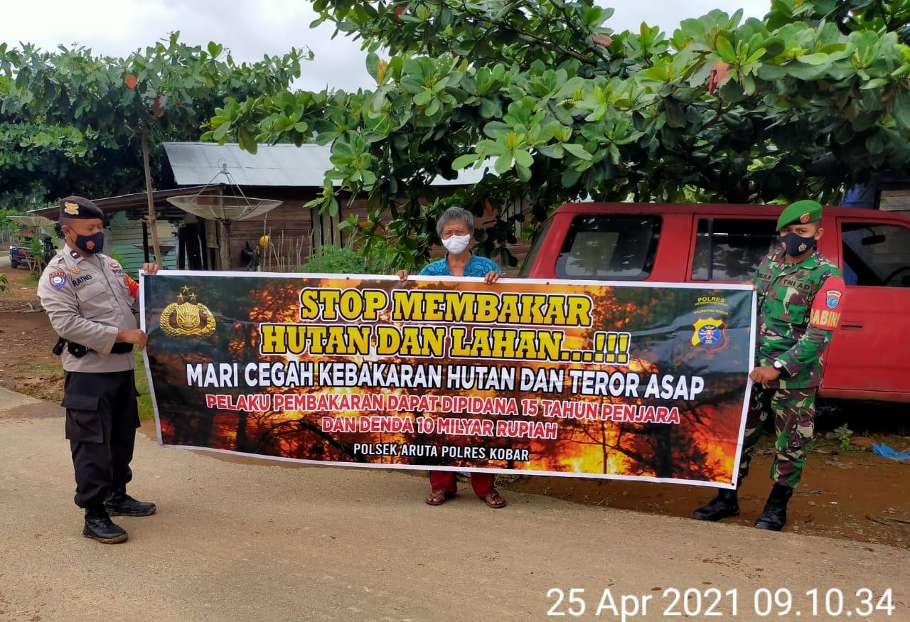 Kasat Reskrim Tekankan Personil Reskrim Jajaran Polsek untuk melakukan Sosialisasi Kebakaran Hutan