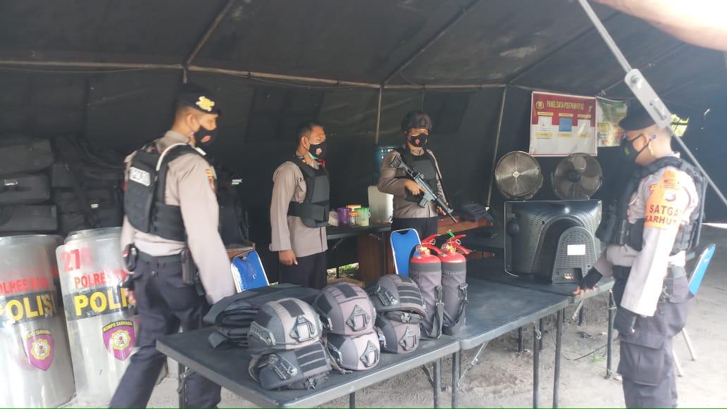 Team Patroli Rajawali Datang Ke Kantor KPUD