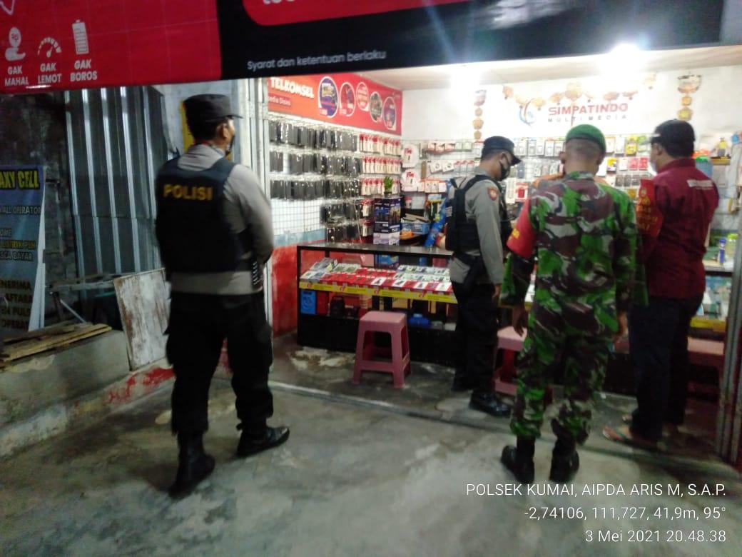Operasi Yustisi Gabungan di Kecamatan Kumai Patuhi Prokes Covid-19
