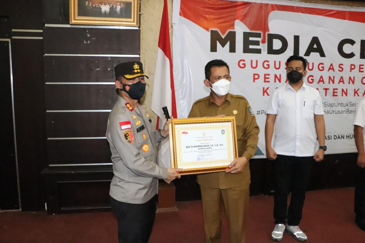 Polres Karimun Dapat Penghargaan Dari Pemrov Kepri