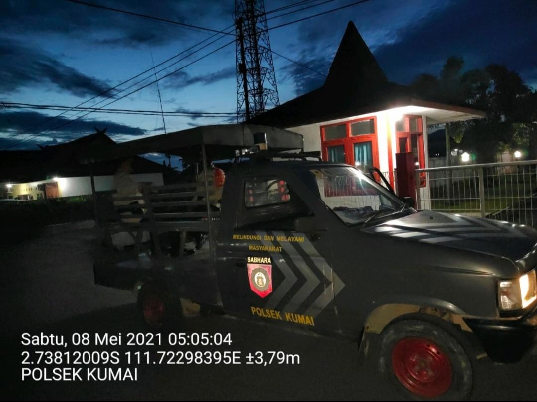 Ramadhan, Personel Polsek Kumai Laksanakan Patroli Subuh Cegah Balap Liar