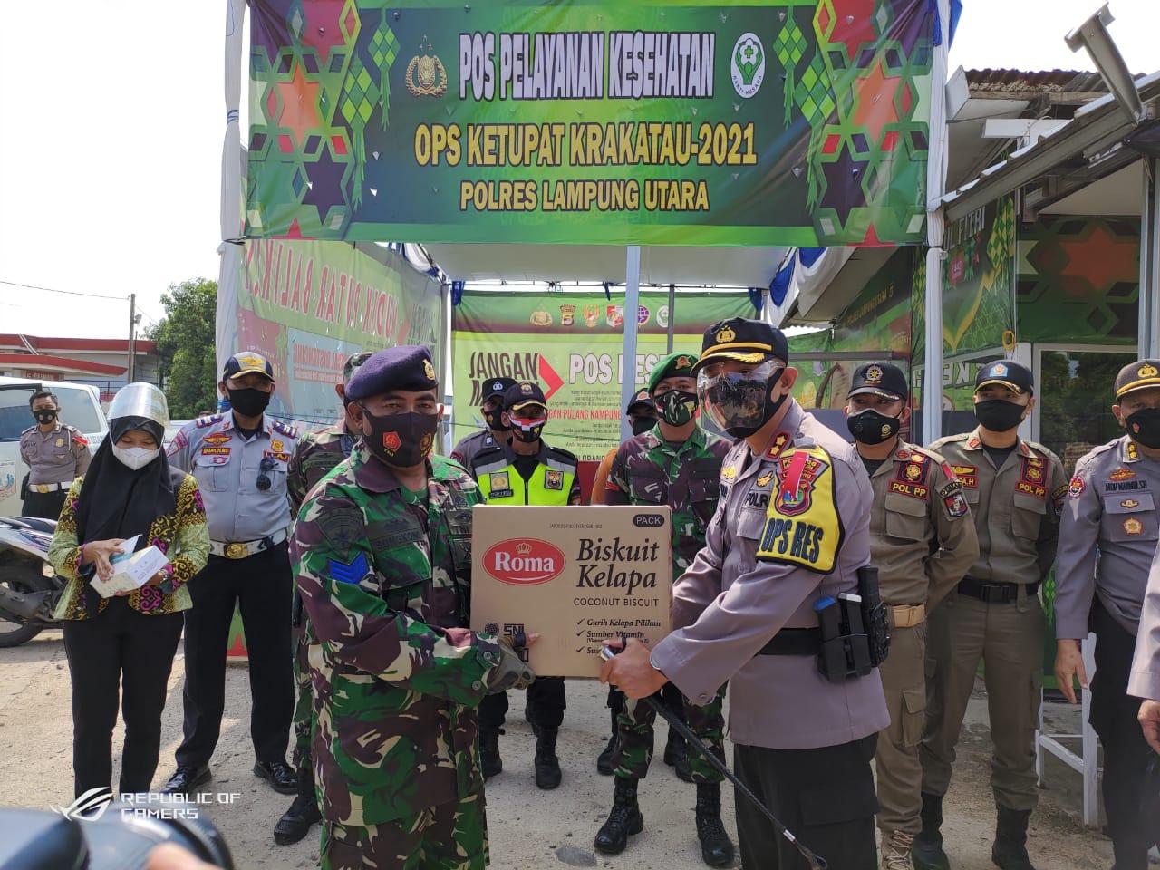 Pastikan Pelaksanaan OKK 2021 berjalan baik Waka Polda Lampung Kunjungi Pos Pengamanan Simpang Propau Lampung Utara
