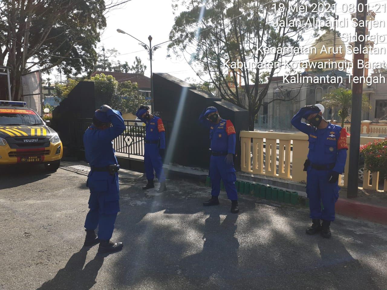 Pandemi Belum Berakhir, Personel Satpolairud Polres Kobar Terus Olahraga Jaga Kebugaran Tubuh