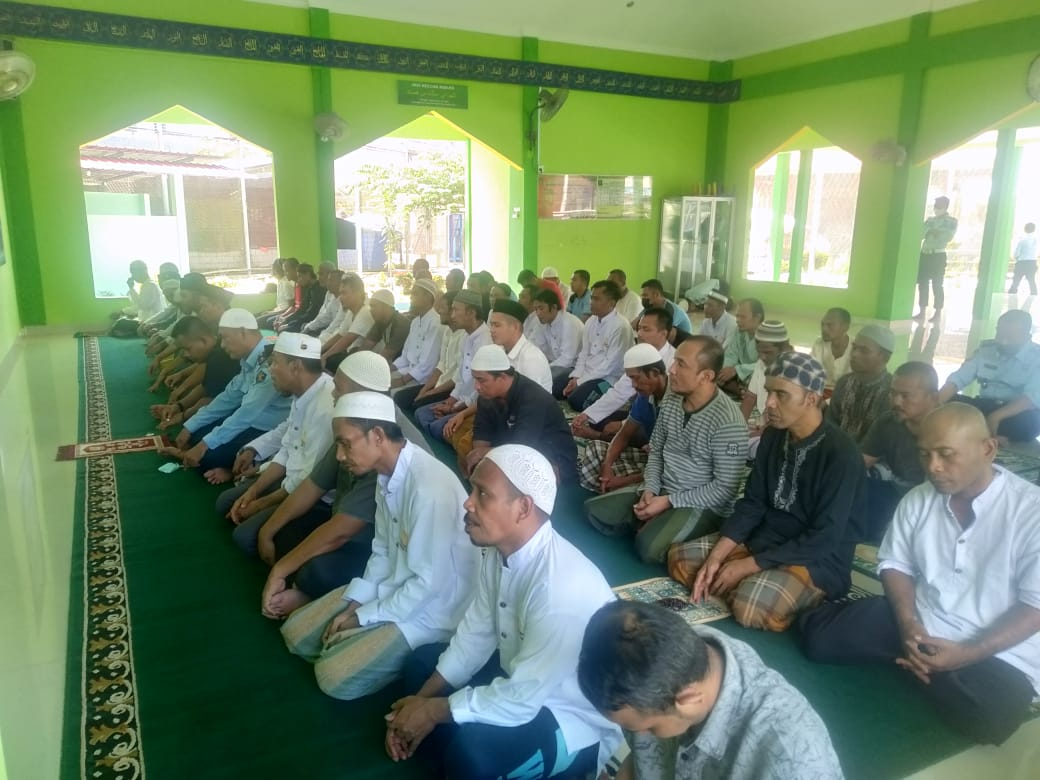 Pasca Idul Fitri, Lapas Narkotika Kelas II A Tanjungpinang Gelar Doa Bersama
