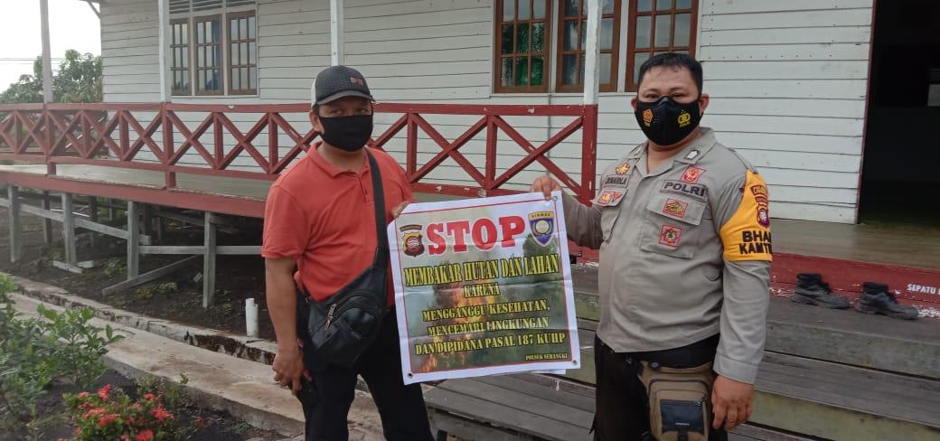 Warga Sebangki diminta Polisi Jangan Bakar Hutan