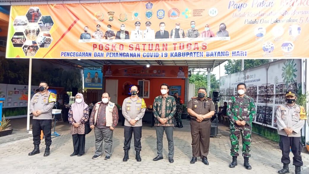 Bupati Batang Hari Bersama Kapolda Jambi Kunjungi BPBD Batang Hari