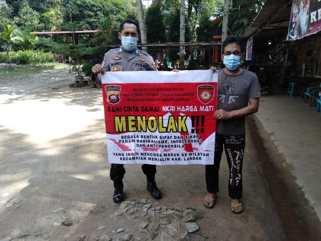 Hari Libur, Masyarakat Kecamatan Menjalin Tetap Dukung Polisi Basmi Aksi Radikalisme Dan Terorisme