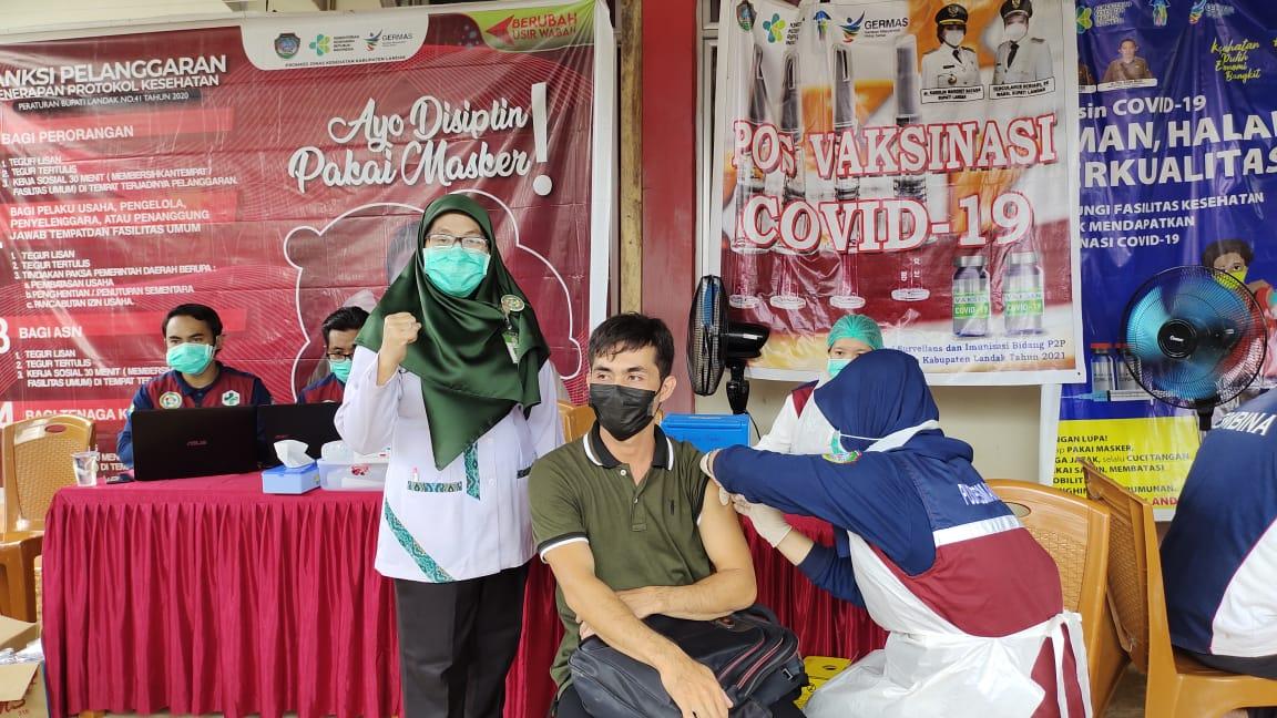 Pelaksanaan Vaksin Covid 19 di Puskesmas Kuala Behe
