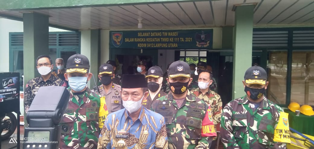 Ini Ungkapan Bupati Lampura terkait TMMD ke-111 di Lampung Utara