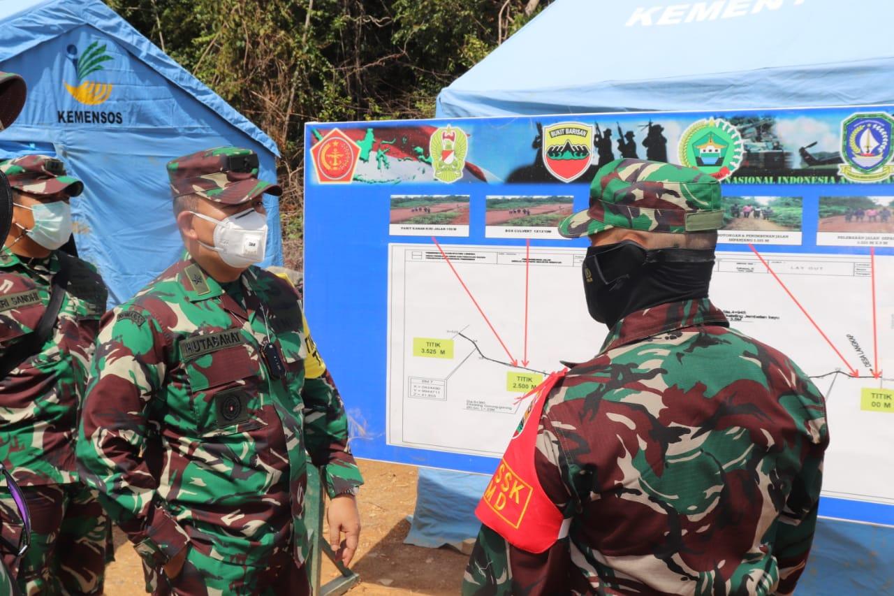 Tim Wasev Sterad Kunjungi Lokasi TMMD Ke – 111 Kodim 0315/Bintan