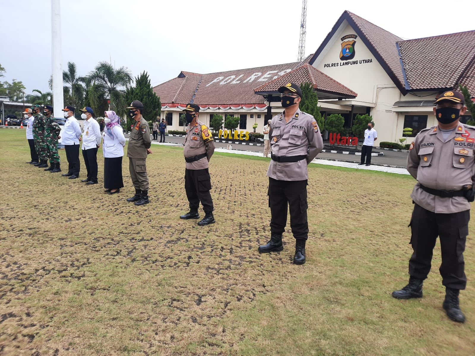 Polres Lampung Utara Gelar Apel Kesiapan Vaksinasi Covid-19 Keliling