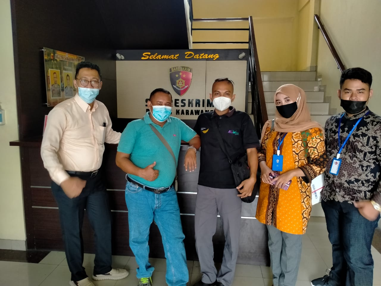Pedagang Maranggi Laporkan 3 Orang ke Polres Karawang. Gara-gara Tempat Usahanya Dihancurkan