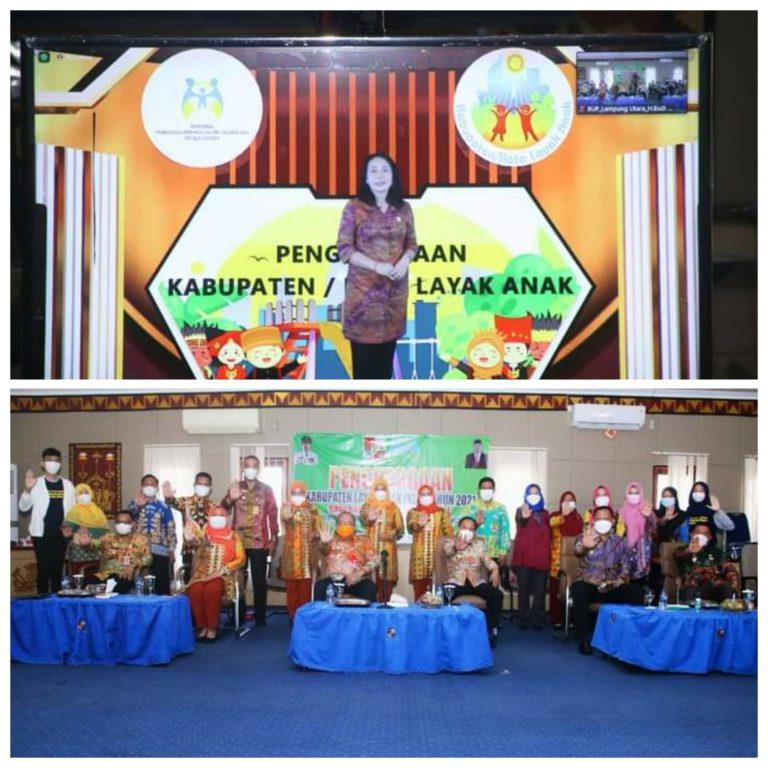 Lampung Utara Raih Penghargaan KLA