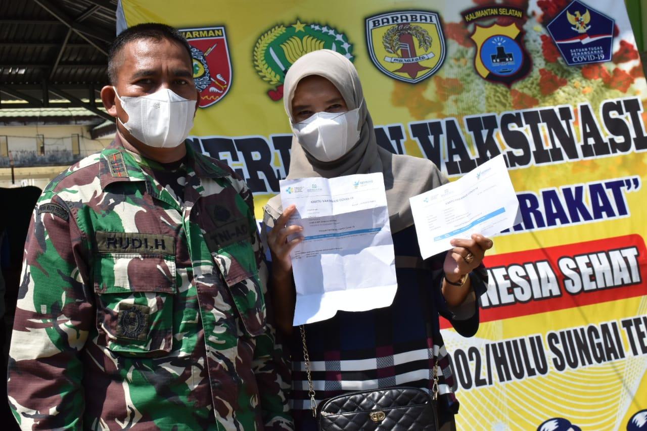 Menuju Indonesia Sehat, Dinkes dan Kodim 1002/HST Gelar Vaksinasi Tahap 2