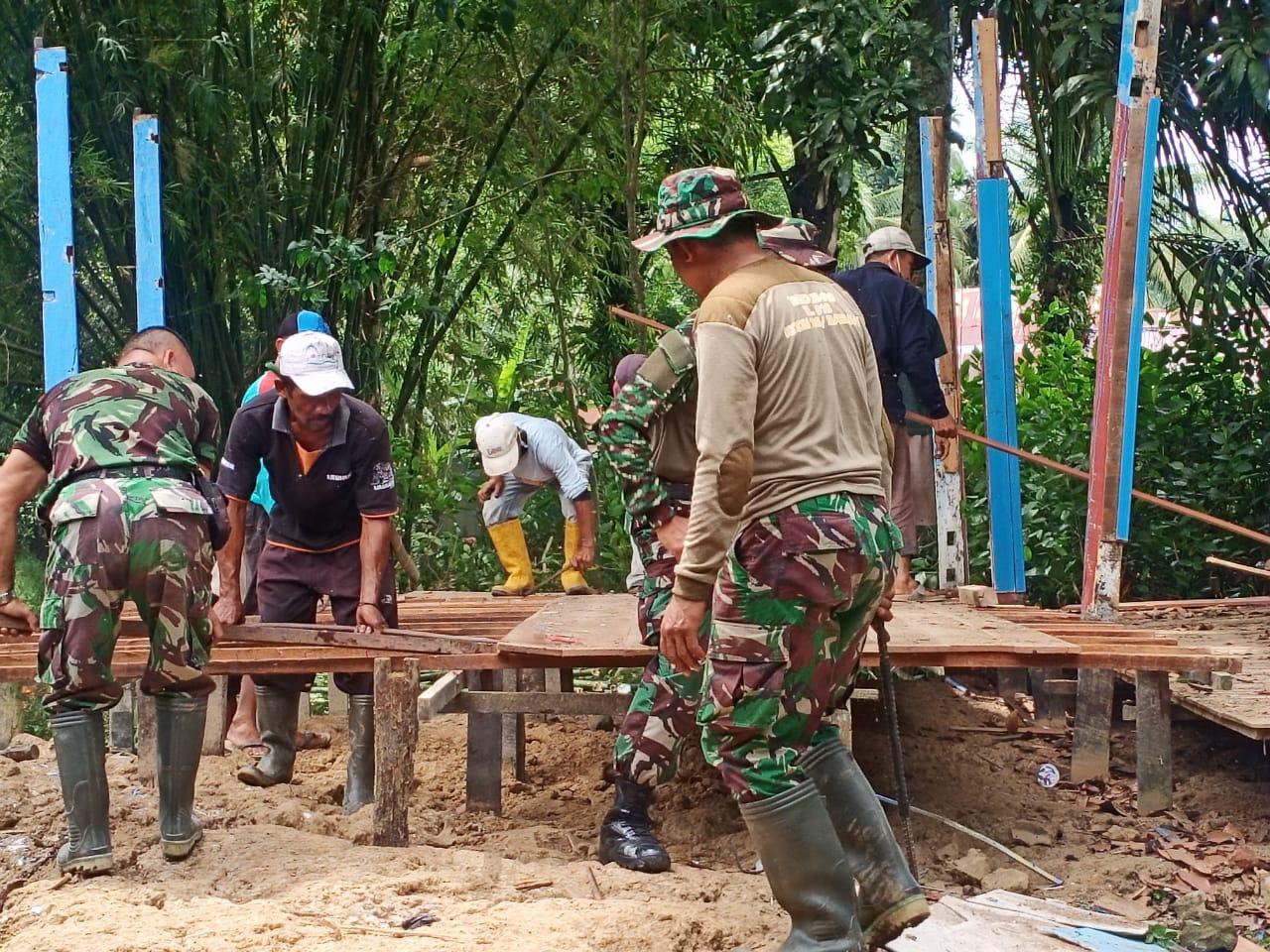 Dandim 1002/HST Apresiasi Warga Relakan Tanah Untuk Bangunan Musholla