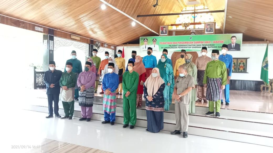 NamaPejabat Administrator dan Pengawas Yang dilantik dilingkup Pemda Batang Hari
